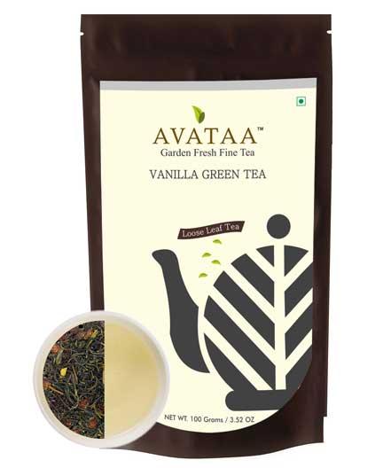 Vanilla Green Tea   Pure High Grown, Single Garden Green Tea Sourced From  Nilgiris. A Sweet, Mellow And Delicate Tea With A Refreshing Taste.